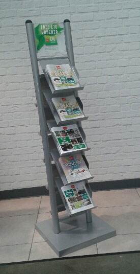 Magazine/Catalogue Holders - 5/10 Pocket A4 Brochure Stand - Floorstanding