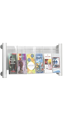 Magazine/Catalogue Holders - 6 Pocket DL Brochure Holder - Wall Mounted