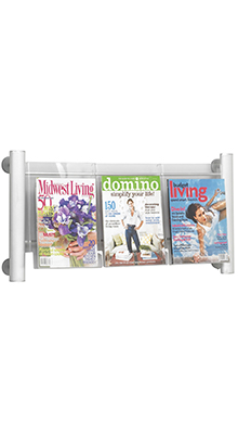 Magazine/Catalogue Holders - 3 Pocket A4 Brochure Holder - Wall Mounted