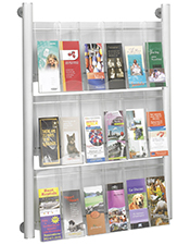 Magazine/Catalogue Holders - 18 Pocket DL Brochure Holder - Wall Mounted