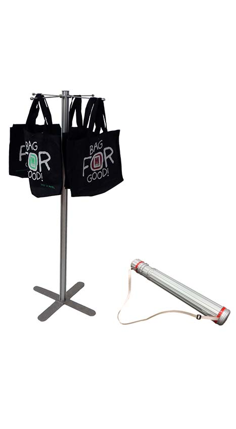 Magazine/Catalogue Holders - PORTABLE Carrier Bag Stand