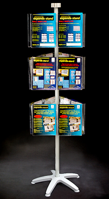 Revolving Brochure Stands - A4 Pocket Carousel -  3 Tier