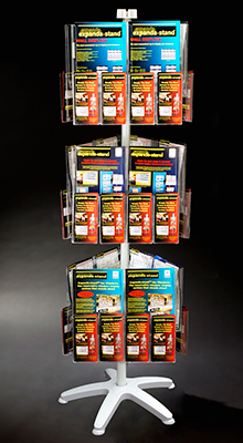 Revolving Brochure Stands - A4/A5/ DL Pocket Carousel - 3 Tier