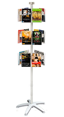 Revolving Brochure Stands - A5 Pocket Carousel -  3Tier