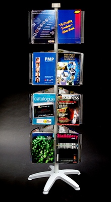 Revolving Brochure Stands -  A4/A5/DL Pocket Carousel -  4 Tier
