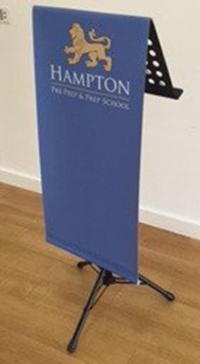Folding & Portable Brochure Stands -  Portable Lectern with Graphic -  Floorstanding