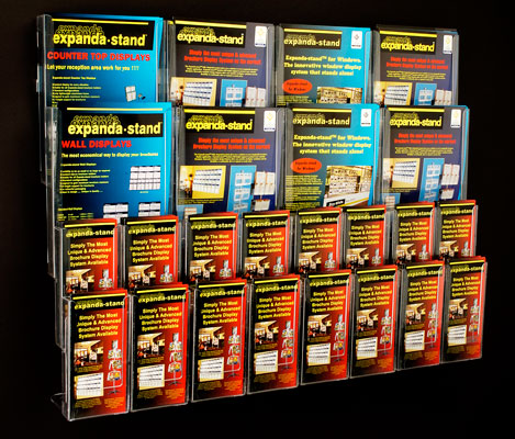 Wall-mounted Brochure Holders - A4,A5 & DL Brochure Holders-Wall Mounted