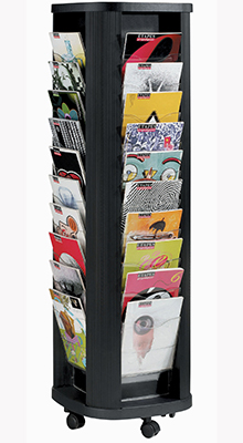 Revolving Brochure Stands - 40 x A4 Pocket Carousel