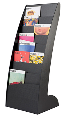 Magazine/Catalogue Holders - 16 Pocket A4 floorstanding display