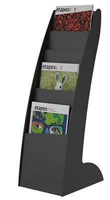 Magazine/Catalogue Holders - 6 pocket A4 floorstanding display