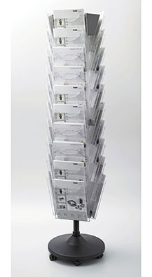 Revolving Brochure Stands - 30 Pocket A4 Carousel
