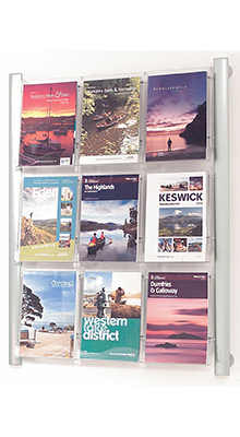 Wall-mounted Brochure Holders - 9 Pocket A4 Brochure Holder - Wall Mounted