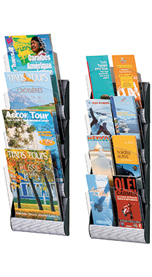 Wall-mounted Brochure Holders - A4,A5 & DL Wall Display System