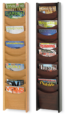 Wall-mounted Brochure Holders - 12 Pocket A4 Wood Dispenser-Wall Mounted