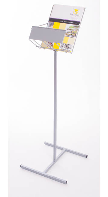 Floor Standing Brochure Holders - A4 Pocket Dispenser - Floorstanding