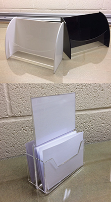 Tabletop Leaflet Stands - Custom Designed Acrylic Tabletop Displays
