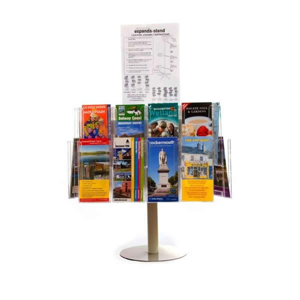 Revolving Brochure Stands - A4/A5/ DL Tabletop Carousel