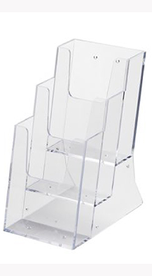 Tabletop Leaflet Stands - Acrylic Leaflet Dispenser - Tiered