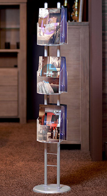 Floor Standing Brochure Holders - A4/A5/DL Brochure Column - Floorstanding
