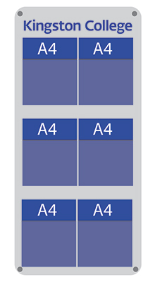 Wall-mounted Brochure Holders - 6/9 Pocket A4 with Logo - Wall Mounted