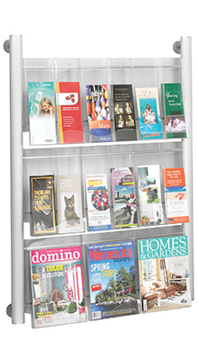 Wall-mounted Brochure Holders - A4 & DL Pocket Brochure Holder - Wall Mounted