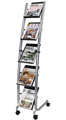 Mobile Stands - 5 x A4 Brochure Stand - Floorstanding