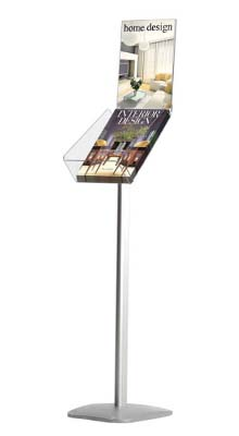 Floor Standing Brochure Holders - A4 Brochure Stand with A4 Poster Holder