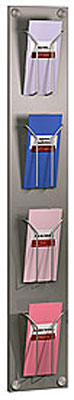 Wall-mounted Brochure Holders - 4 Pocket DL Brochure Holder - Wall Mounted