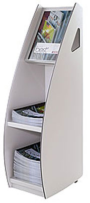 Mobile Stands - A4 Magazine & Brochure stand - Floorstanding