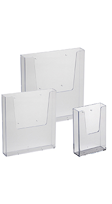 Wall-mounted Brochure Holders - Acrylic Leaflet Holders - Wall Mounted