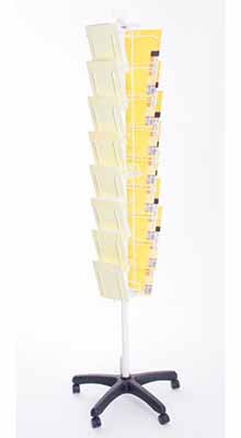 Floor Standing Brochure Holders -  A4/A5/DL Mini Carousel - White