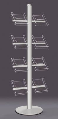 Floor Standing Brochure Holders - A4/A5/DL Leaflet Tower - Floorstanding