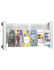 6 Pocket DL Brochure Holder - Wall Mounted