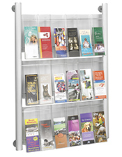 18 Pocket DL Brochure Holder - Wall Mounted