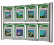 8/6/4 A4 Brochure Holder - Wall Mounted