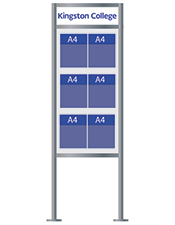 6 pocket A4 Brochure Stand with Logo - Floorstanding
