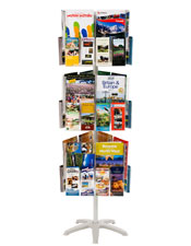 Brochure holder: Banner stand with A4 fold-up dispenser ONLY £150