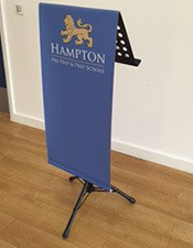 Portable Lectern with Graphic -  Floorstanding