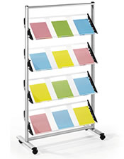 Brochure holder:  A4/A5/DL Carousel -  White