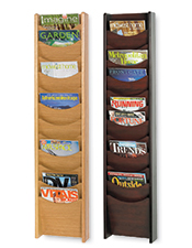 12 Pocket A4 Wood Dispenser-Wall Mounted