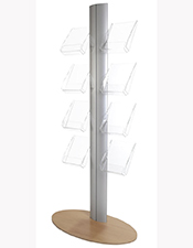 8 Pocket A4 & A5 Brochure Column - Floorstanding