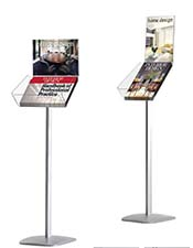 A4 Brochure Stand with A4 Poster Holder