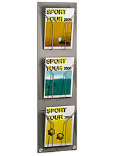 3 Pocket A4 Brochure Holder - Wall Mounted