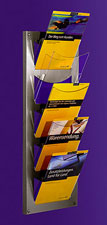 5 Pocket A4 Leaflet Stand - Wall Mounted