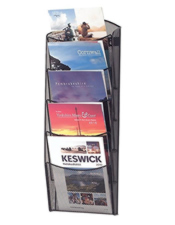 5/10 pocket A4 Mesh Leaflet Stand  - Wall Mounted
