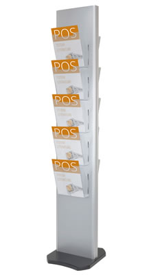 Floor Standing Brochure Holders - 10 Pocket A4 Leaflet Tower - Floorstanding