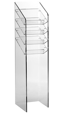 Floor Standing Brochure Holders - 4 Pocket A4 Acrylic Leaflet Tower - Floorstanding