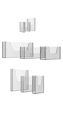 Wall-mounted Brochure Holders - Custom Size Acrylic Wall Dispensers